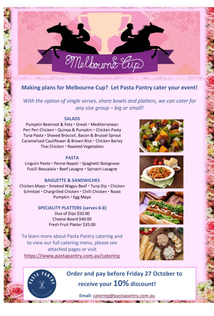 Pasta Pantry Melbourne Cup Catering